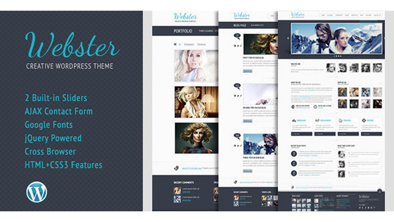 Webster – Creative WordPress Theme | Themeforest Website Templates and Themes