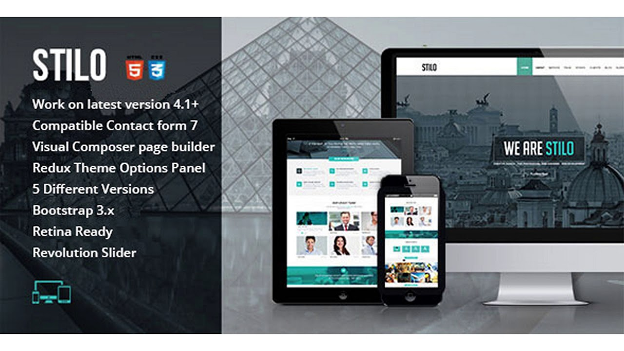 Stilo – One Page Multipurpose WordPress Theme | Themeforest Website Templates and Themes