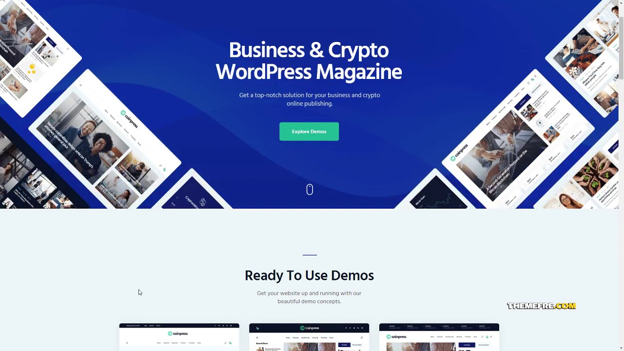Coinpress ICO Cryptocurrency Magazine and Blog WordPress Theme      I