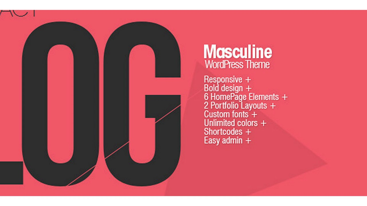 Masculine – Responsive WordPress Theme | Themeforest Website Templates and Themes