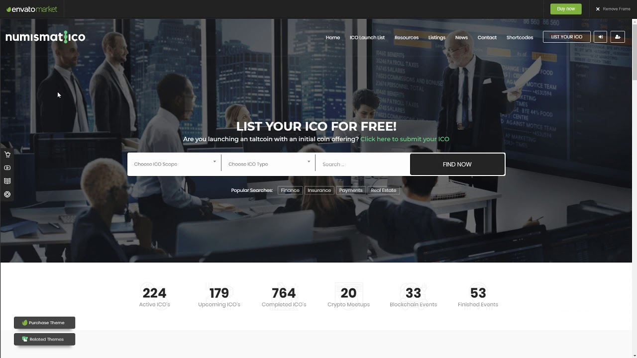 Numismatico – Cryptocurrency Directory and Listings WordPress Theme