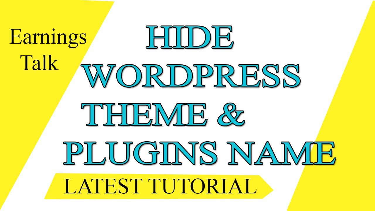 How to hide wordpress theme  name and plugin | WP Hide and Security Enhancer 2019(updated)