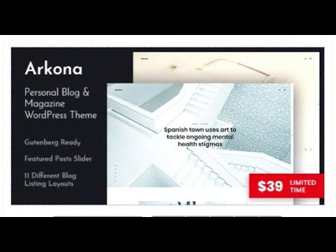Arkona – Personal Blog & Magazine WordPress Theme | Themeforest Templates